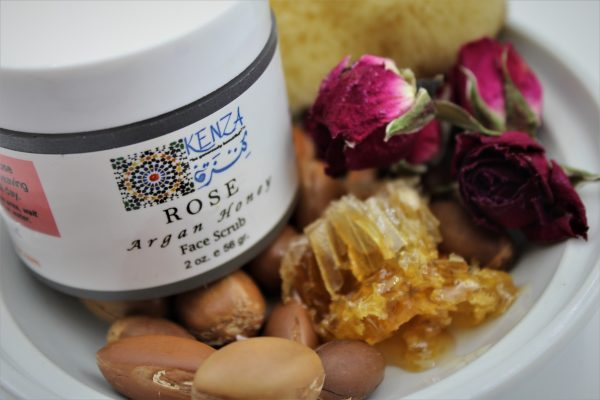 KENZA Rose Argan Honey Face Scrub