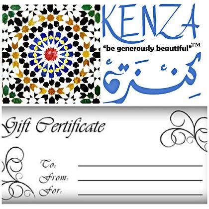 kenza gift certificate