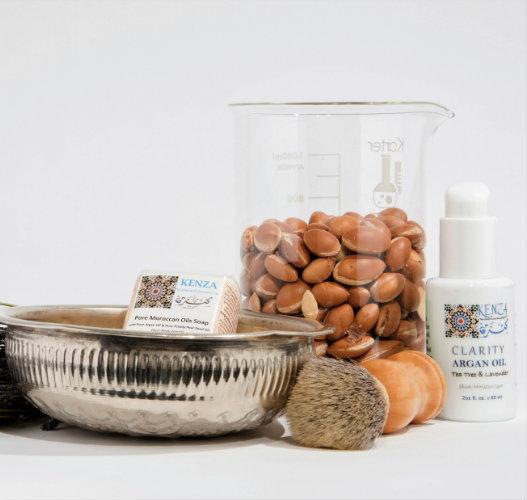 Argan Tea Tree Lavender Men Skincare Kit