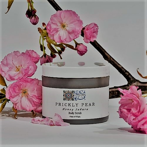 Prickly Pear Sakura Honey Body Scrub Flowers