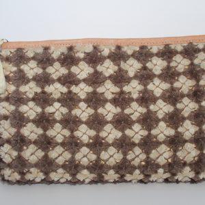 KENZA Grey PomPom Straw Bag (2)
