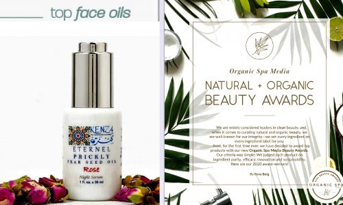 KENZA Prickly Pear Seed Oil Rose ÉTERNEL Top Facial Oils Beauty Awards